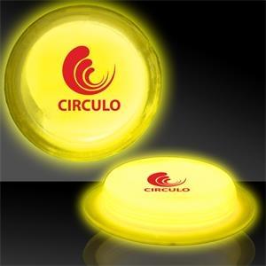 "Yellow 3\"" Self-Adhering Circle Shaped Light Up Glow Badge"