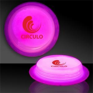 """Pink 3\"""" Self-Adhering Circle Shaped Light Up Glow Badge"""