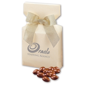 Milk Chocolate Covered Almonds in Ivory Gift Box