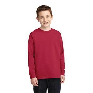 Port & Company Youth Long Sleeve Core Cotton Tee.