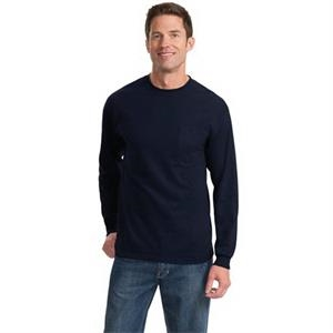 Port & Company Tall Long Sleeve Essential Pocket Tee.