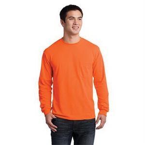 Gildan - Ultra Cotton 100% Cotton Long Sleeve T-Shirt wit...