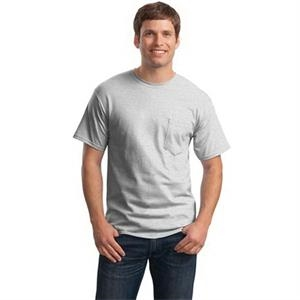 Hanes - Tagless 100% Cotton T-Shirt with Pocket.