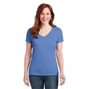 Hanes Ladies Nano-T Cotton V-Neck T-Shirt.