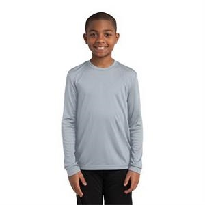 Sport-Tek Youth Long Sleeve PosiCharge Competitor Tee.