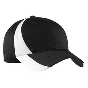 Sport-Tek Dry Zone Nylon Colorblock Cap.