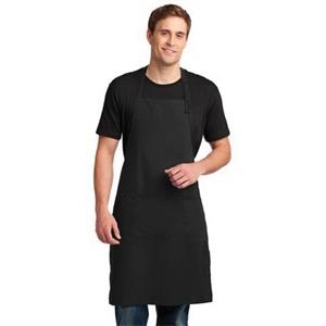 Port Authority Easy Care Extra Long Bib Apron with Stain ...