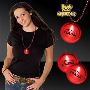 "Red 2"" Lighted Badges with attached J-Hook medallion"