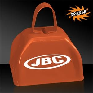 "Orange 3"" Metal Cowbell"