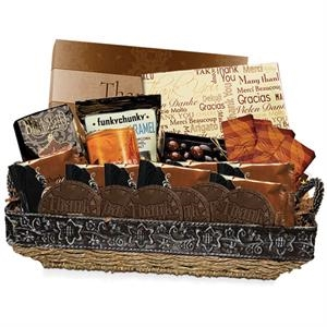 Thank you gift basket stock