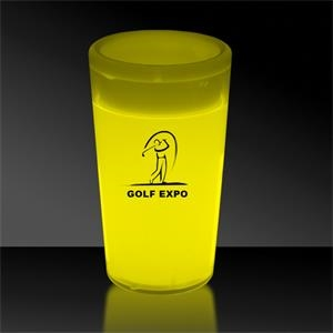 Yellow 2 oz. Tapered Style Light Up Glow Shot Glass