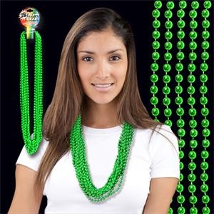 Green Metallic Beaded Necklace