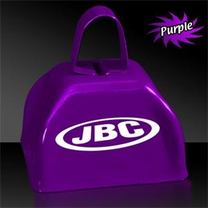 "Purple 3"" Metal Cowbell"