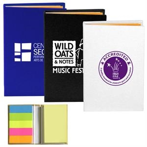 Atherton Compact Sticky Notes and Flags Notepad Notebook