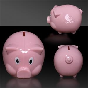 "4"" Plastic Piggy Bank"
