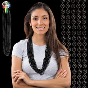 Black Metallic Beaded Necklace