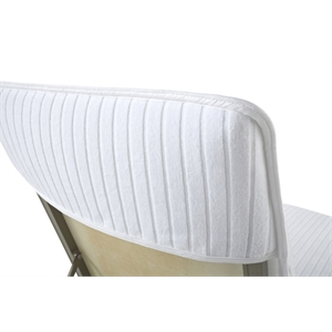 Lounge Chair Cover 100% CottonVelour Stripe with Fitted Hood
