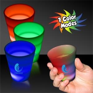 2 oz. Neon-Look Shot Glass with  Multi-Colored LED Lights