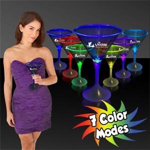 7 oz. Lighted LED Martini Glass