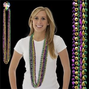 Football Bead Mardi Gras Necklace