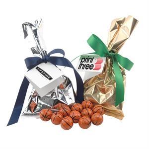 Chocolate Basketballs Favor/Mug Stuffer Bags with Ribbon