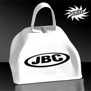"White 3"" Metal Cowbell"