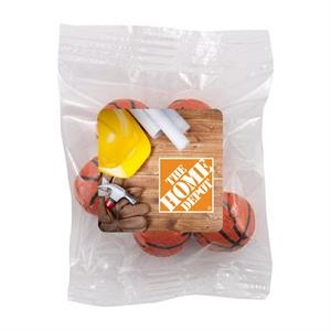 Bountiful Bag with Chocolate Basketballs- Full Color Label