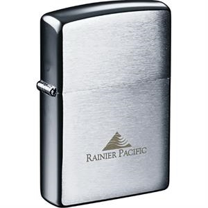 Zippo(R) Windproof Lighter Brush Chrome