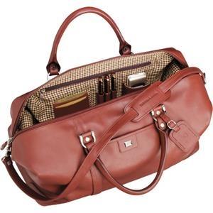 "Cutter & Buck(R) 19\"" Leather Weekender Duffel Bag"