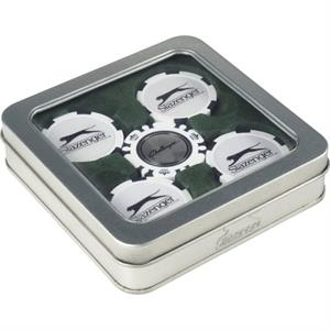 Slazenger(TM) Turf Ball Marker Gift Set