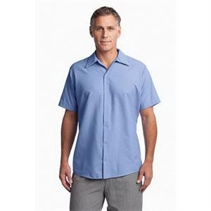 Red Kap - Short Sleeve Pocketless Gripper Shirt.