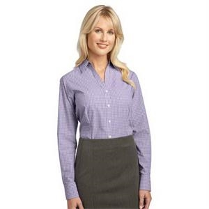 Port Authority Ladies Plaid Pattern Easy Care Shirt.