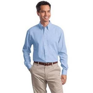 Port Authority Long Sleeve Value Poplin Shirt.