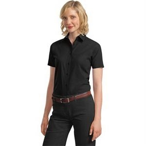 Port Authority Ladies Short Sleeve Value Poplin Shirt.