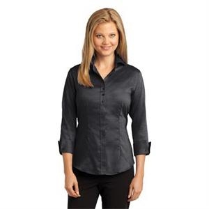 Red House Ladies 3/4-Sleeve Nailhead Non-Iron Shirt.