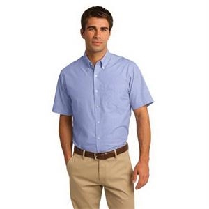 Port Authority Short Sleeve Crosshatch Easy Care Shirt.