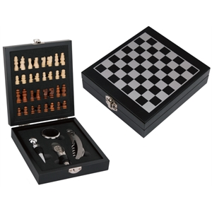Chess Set w/4 Pc Wine Opener & Corkscrew Set