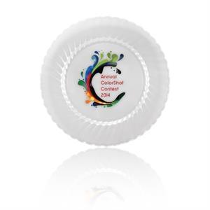 """9\"""" ClassicWare Plastic Plate - Clear"""