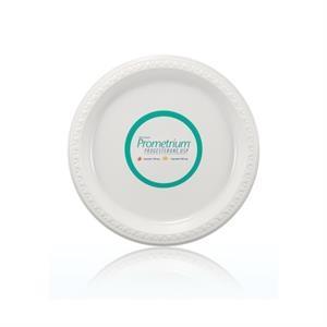 "9\"" Plastic Plate - White"