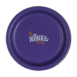 """9\""""  Coated Paper Plate - Purple"""