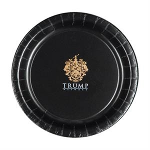 "9""  Coated Paper Plate - Black"