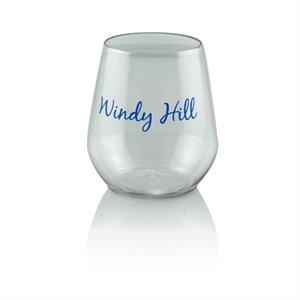 12 oz Clear Plastic Reserv (TM) Stemless Glass