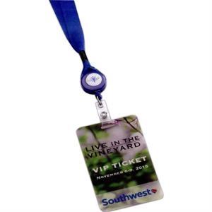 "3 5/8\"" W x 5 1/2\"" H Plastic ID Badge"