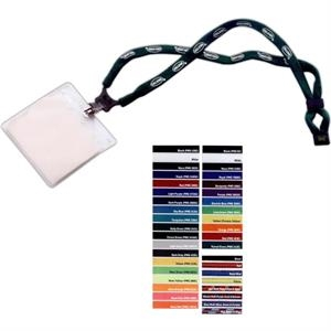 "1/2"" Dual-Use Cotton Trade Show Lanyard"