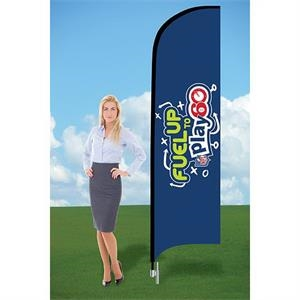 8ft Customized Flag with Ground Stake-Double