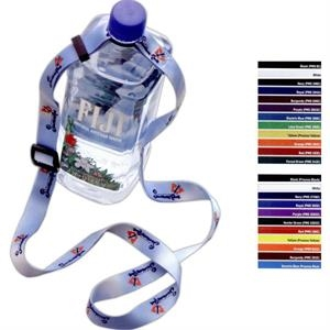 "3/4"" Adjustable Dye-Sublimated Water Bottle Strap"