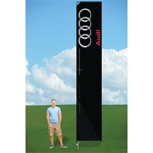 14ft Flutter Flags with Ground Stake-single