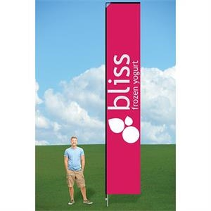 14ft Swooper Flag with Ground Stake-single
