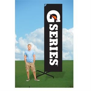 9ft Flutter Flags with X Stand-single