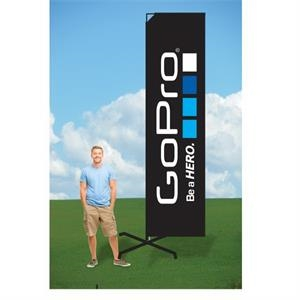 10ft PromoFlag with X Stand-single